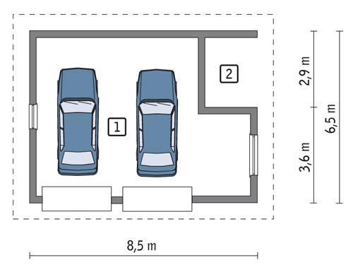 Rzut parteru POW. 41,2 m²