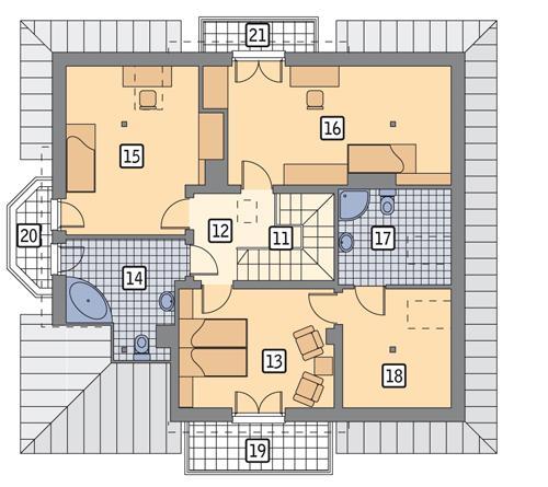 Rzut poddasza POW. 104,4 m²