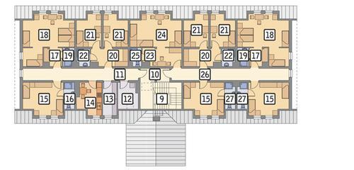 Rzut poddasza POW. 339,0 m²