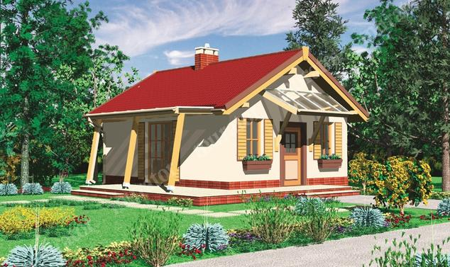 Projekt domu:  Murator DL04   – Romantyczny (rekreacyjny)
