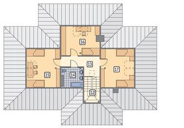 RZUT PODDASZA POW. 52,7 m²