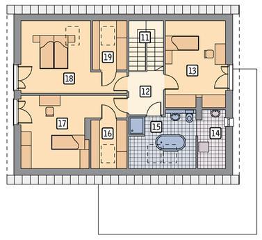 RZUT PODDASZA POW. 64,2 m²